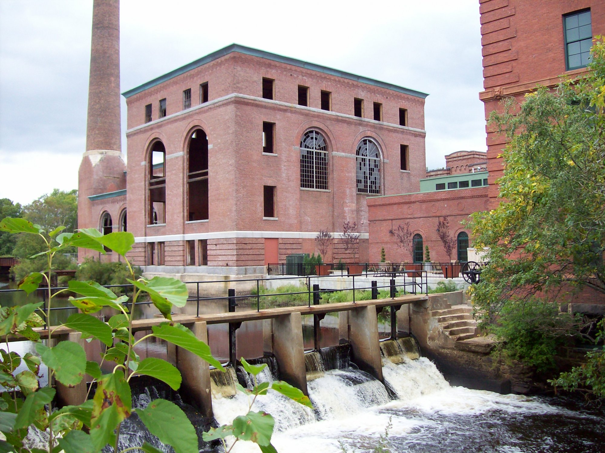 Baker Chocolate power house and Lower Mills Dam