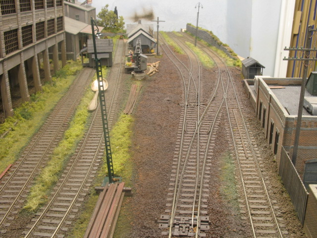 ballast and track sprayed brown
