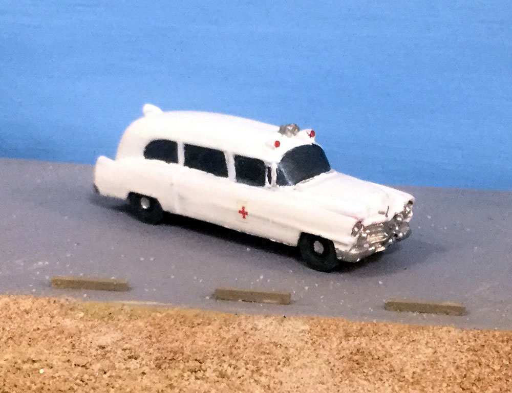 Cars N Scale - 1954 Cadillace ambulance