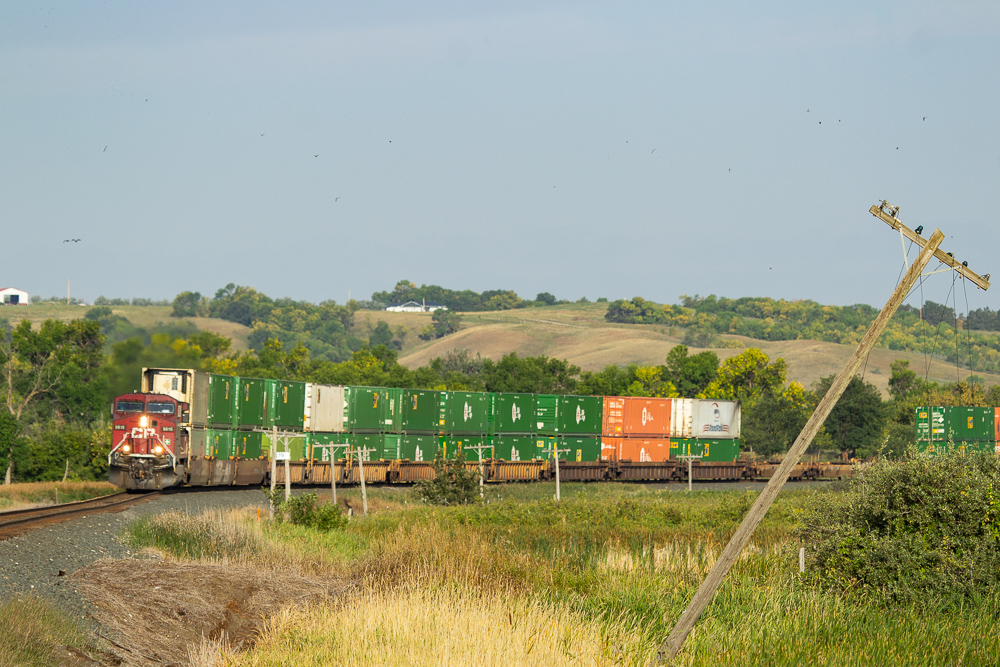 CP Eastbound stacks