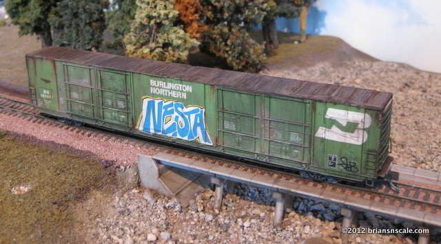 Custom Weathered 86' Auto Parts Boxcar