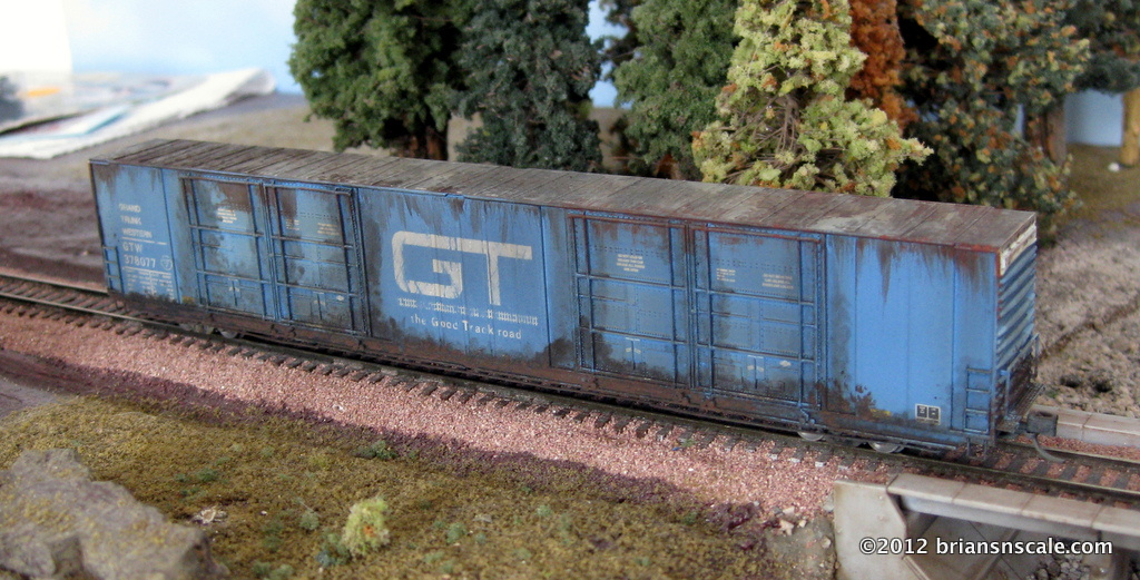Custom Weathered 86' Autoparts Boxcar