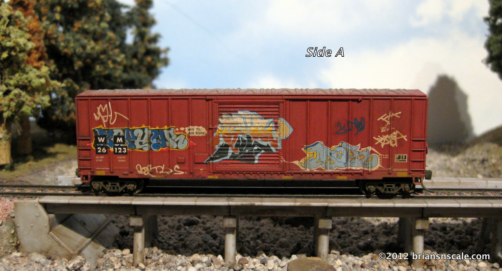 Custom weathered w/graffiti and patches