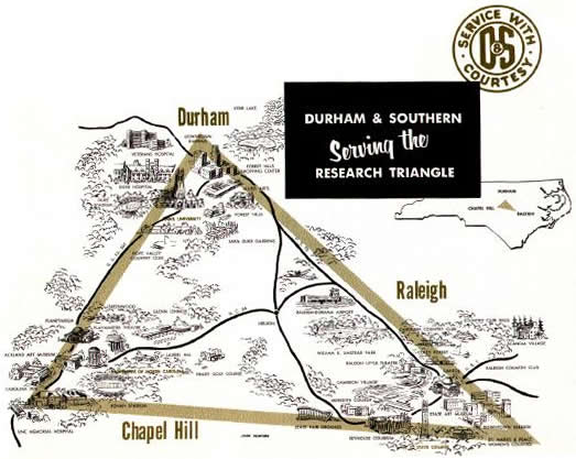Durham & Southern map