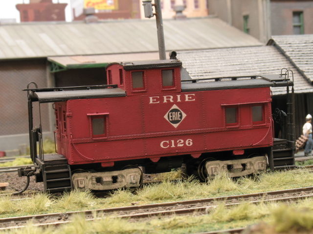 Erie caboose with correct trucks