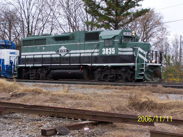 Evansville Western GP36 3835  (ex P&L 3600) - rebuilt from GM&O GP35 by VMV to GP38 specs