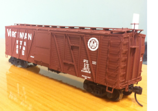 Finished Virginian Boxcar, F&C Kit