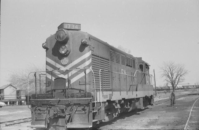 FM Loco 1734 March 1957 OKC