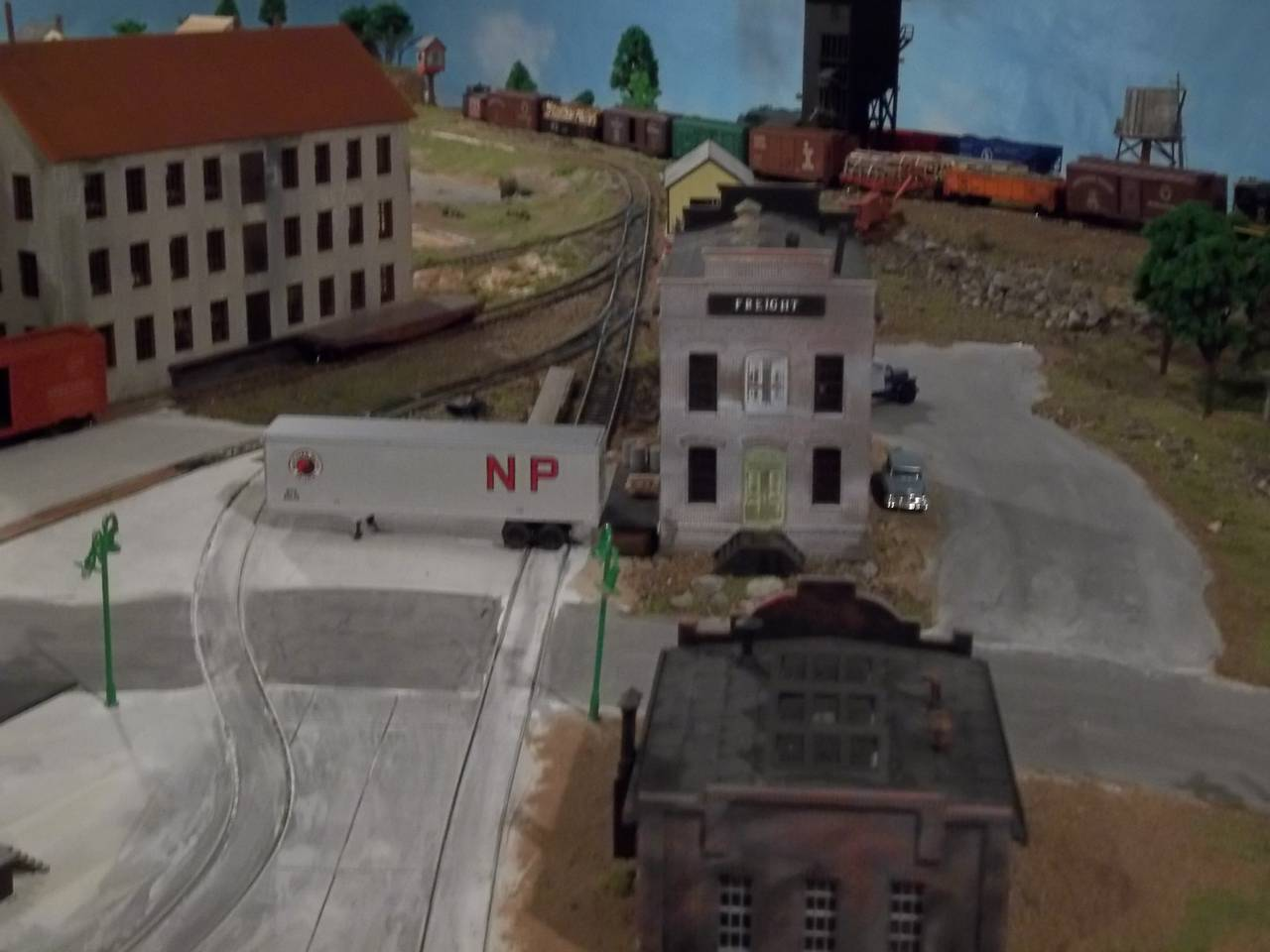 HO Scale Layout:  Industry, Landscape