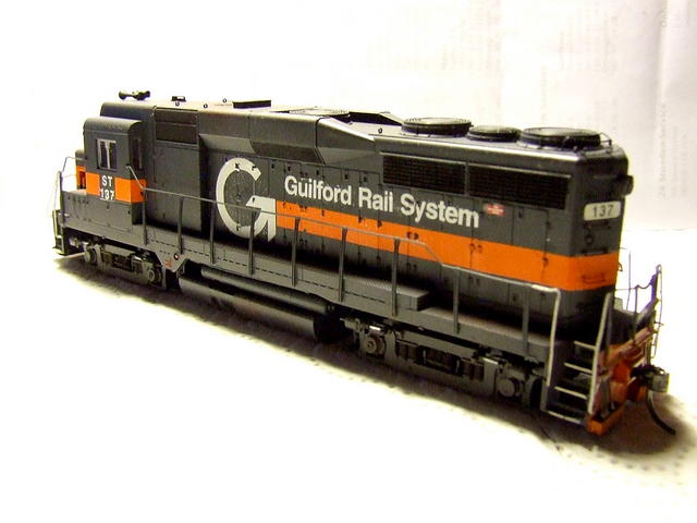 I know, Guilford never had GP30's, but I love this EMD model pretty much, so I had to paint one myself into Guilford Colors.