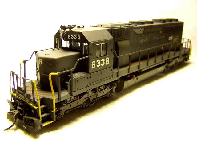 Kato CR (ex PC) SD40, custom painted and weathered.