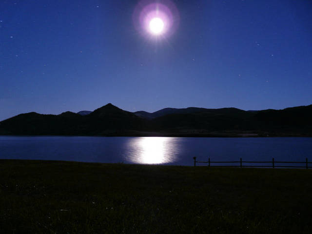 Moonlight over Holter Lake