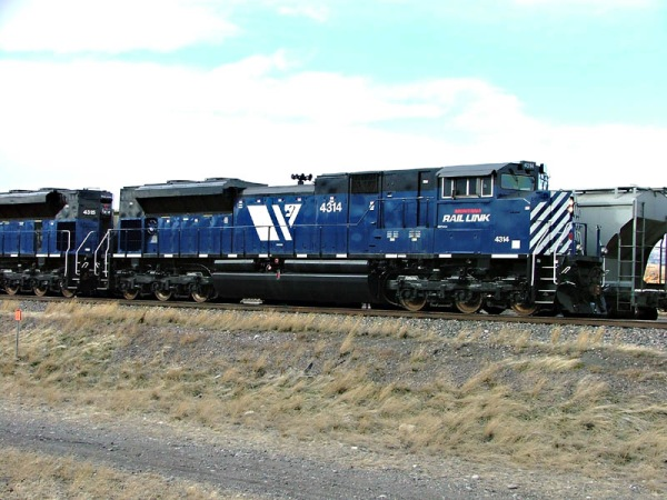 MRL 4314 at Livingston in Bozeman Pass helper service