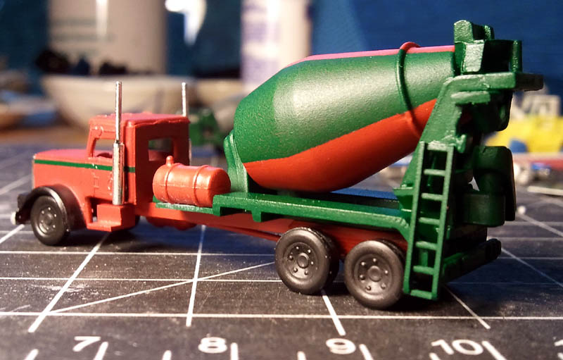 n scale cement trucks
