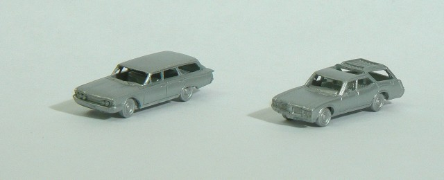 N Scale Ford and Olds Station Wagons