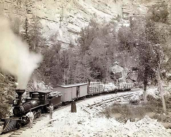 Now this is my idea of railroading!! ld steam in the old west. Black Hills South Dakota.