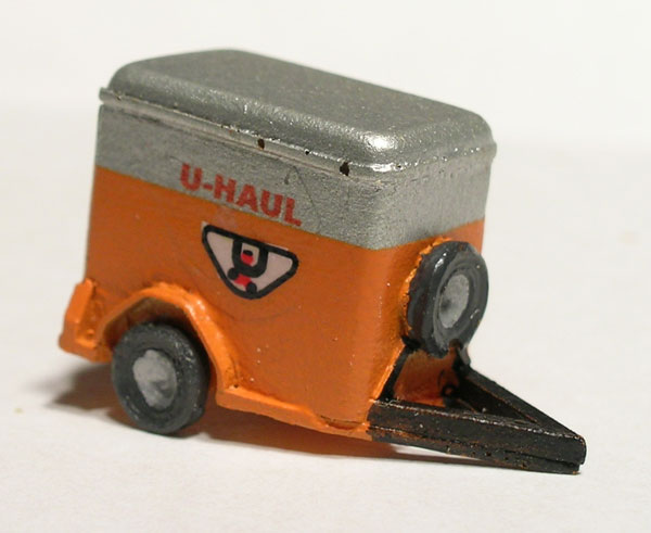 Older 5 x 8 ft U-Haul trailer