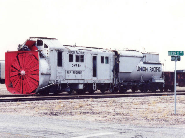OWR&N 7827 Steam Power Rotary Snow plow