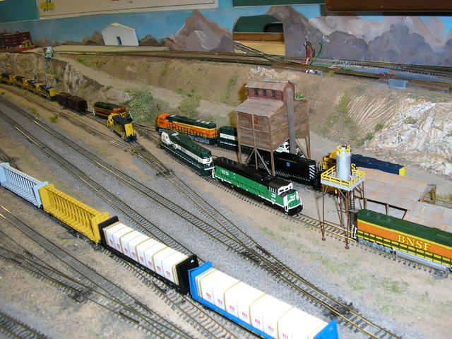 Part of my BNSF collection including pre merger BN SD60Ms.
