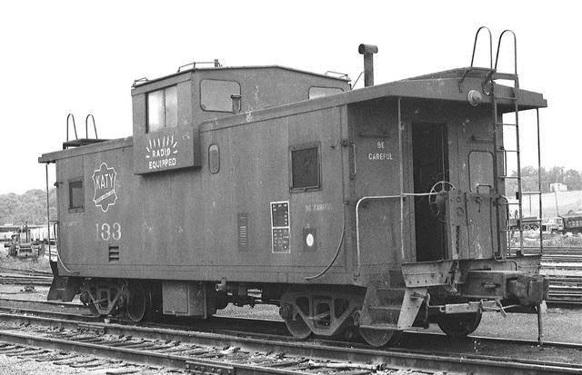 Red wide vision caboose 133 Kansas City 1980-81