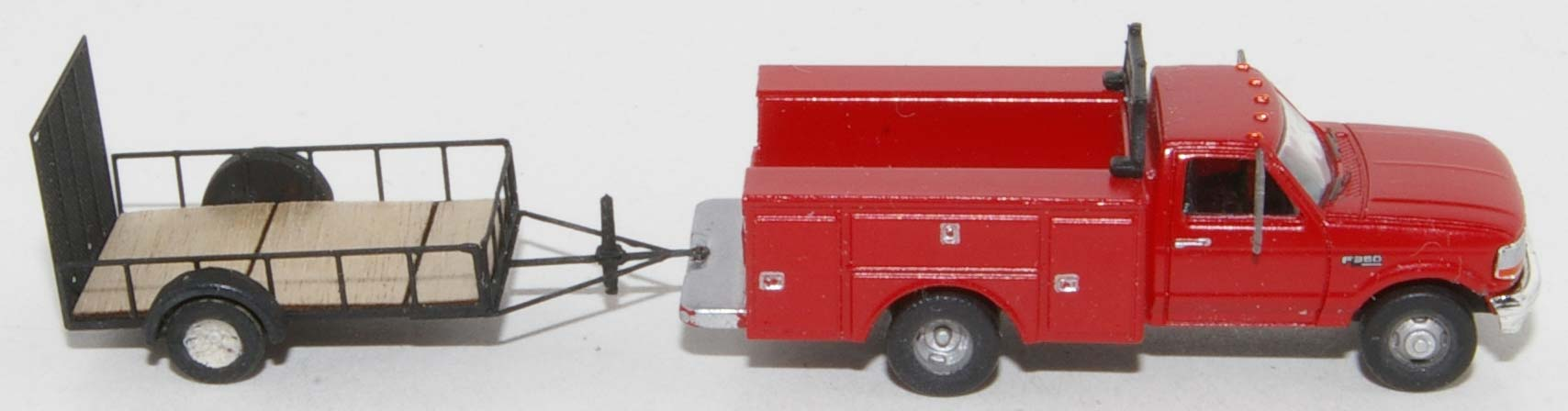 RPS F-350 with Showcase Minatures Trailer-2