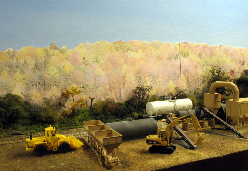 Scenery added to asphalt plant