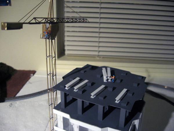 Scratch built construction crane