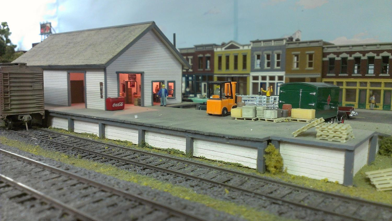 Scratch built freighthouse at Vincent