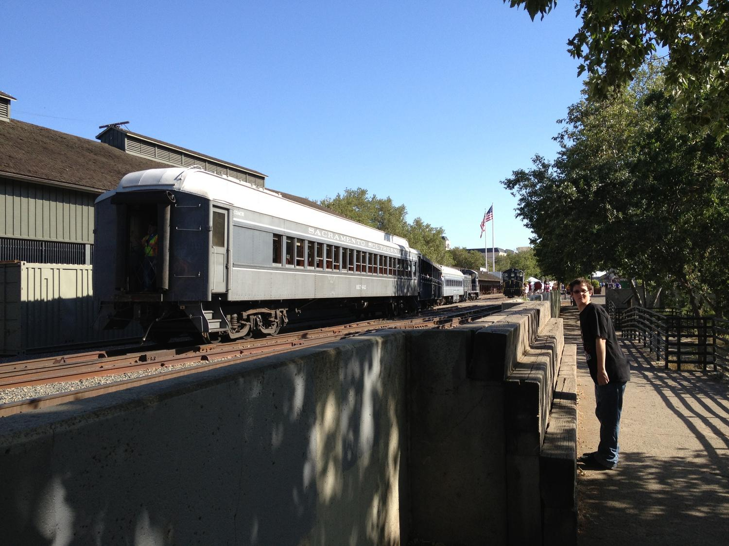 Someof the passenger cars used at the Cal State Railraod Museum.
