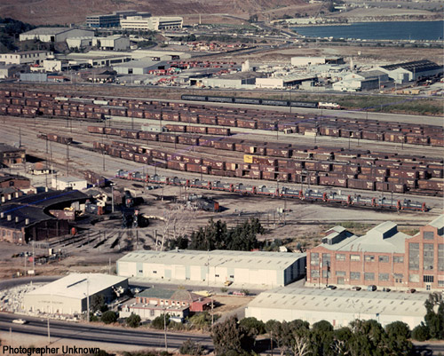 Southern Pacific Bayshore Yard and Roundhouse, 1982