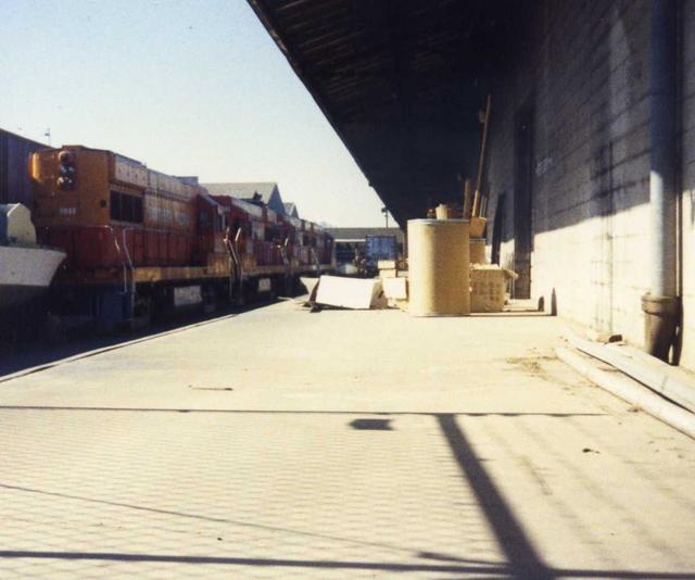 SP's U25B rebuilds in storage in Oakland, Ca.