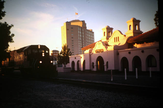 The SP Depot in downtown Modesto, 1995
