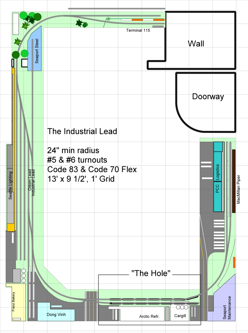 Track Plan - Industrial Lead 13
