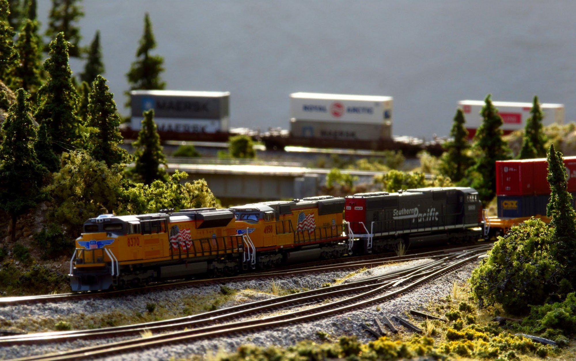 UP Intermodal Freight in Donner Pass