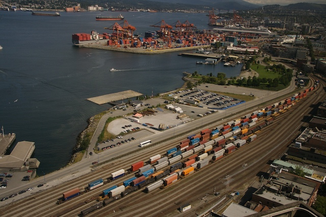 Vancouver Harbour railyard