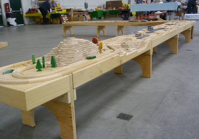 Large Wooden Train Patterns