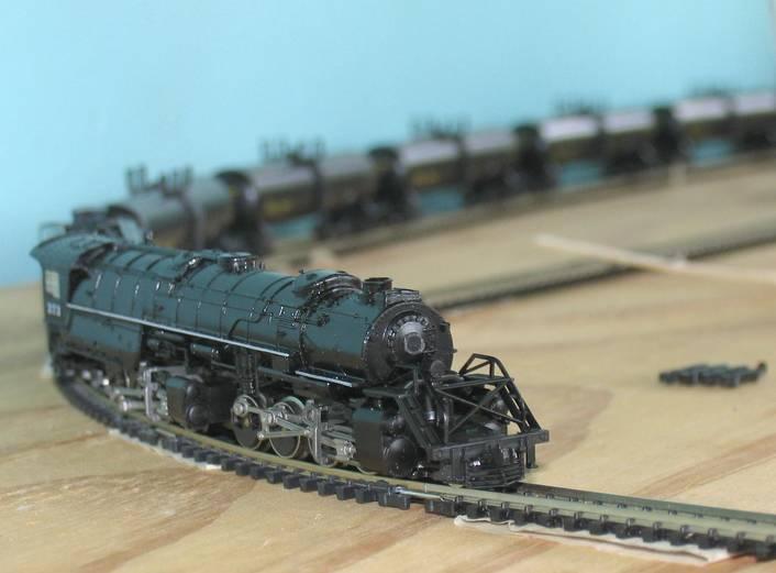 N scale mallet locomotive