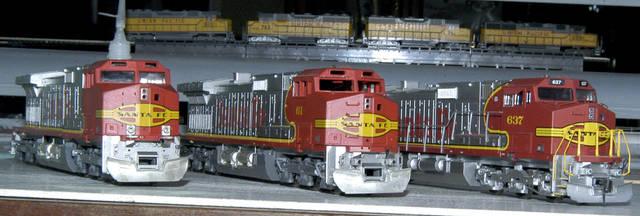 ATSF/BNSF C44-9Ws Athearn on Kato chassis